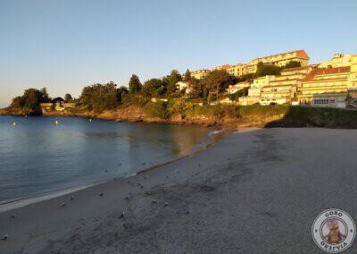 Amanecer en Playa de Caneliñas en Portonovo