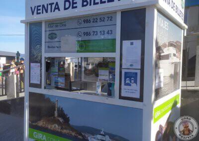 Caseta de venta de billetes Naviera Mar de Ons
