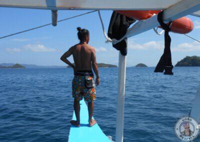 Baculo Chok nuestro guía en Port Barton