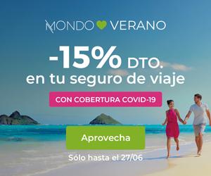 15% de descuento en tu seguro de viaje con Mondo